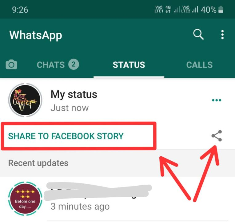 Whatsapp Added Share Status As Facebook Instagram Story